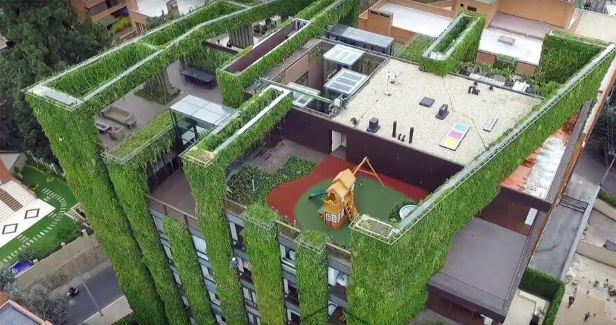 Binalar için dikey bahçe